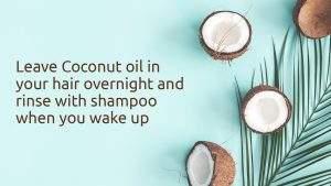 coconut oil on hair overnight