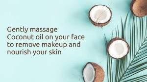 coconut oil makeup remover